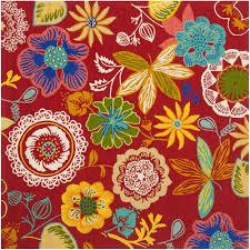 safavieh four seasons red multi 6 ft x square indoor outdoor