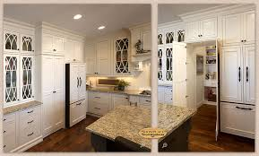 Cabinets: A Showplace walk-in pantry cabinet adds convenience to this  graceful kitchen design.