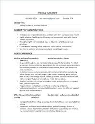 Medical Assistant Resume Skills Magnificent Medical Assistant Resume Best Of Resume Medical Assistant