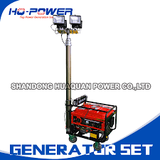 Portable Light Generator Us 1220 0 Portable Mobile Light Tower Diesel Generator 5kw For Sale In Gasoline Generators From Home Improvement On Aliexpress