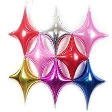 Anagram 6 Point Star Foil Balloon 22 Purple * Click on the image for ...