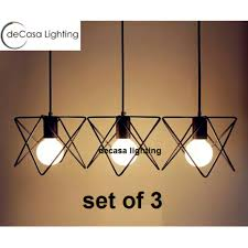 iron pendant light decasa modern vintage ceiling light pendant lamp fixture chandelier lage lampshade set of 3 with long based
