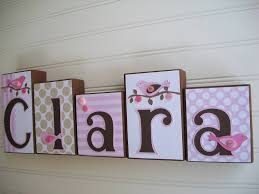 wooden baby name letters for nursery