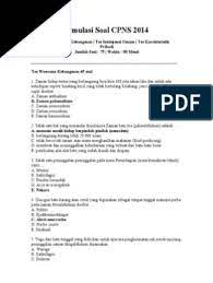Agar kamu bisa lanjut pada… Soal Tes Cpns 2014 Dan Kunci Jawaban Kanal Jabar