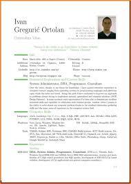English Cv Example Uk Resume In English Examples Resume In English