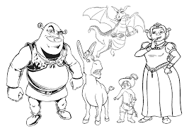 Small Picture Shrek Coloring Pages GetColoringPagescom