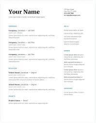 Resume Templates Google Docs Classy Google Doc Template Resume Resume Template Google Docs Templates