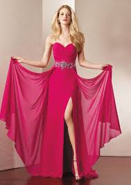 Lange Schöne Abendrobe Fuchsia | Dresses | Pinterest | Chiffon ...