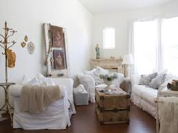 White Living Room Decoration Modern Nice Design Of The Living Shabby Chic That Has Brown Carpet