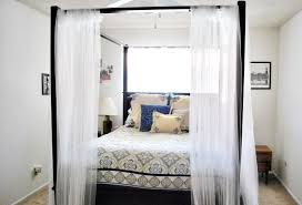 Diy Perfect Canopy Bed Curtains In White Bedroom Brighter Setting  Transparent All Bright Design Style
