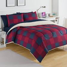 izod buffalo plaid comforter set reviews wayfair intended for ideas 3
