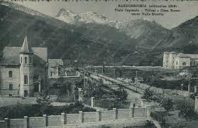 1917 BARDONECCHIA Viale Capuccio Cima Rossa Valle Stretta Torino Cartolina