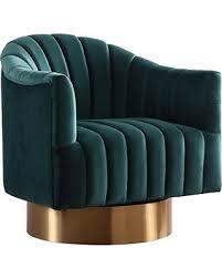 velvet accent chair. Meridian Furniture 520Green Farrah Velvet Accent Chair, Green Chair A