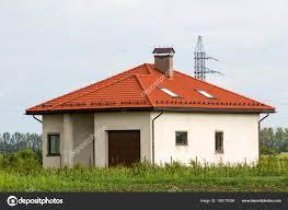 Neu Gebaut Nicht Gelebt Doch Eins Store Grau Haus Mit Stockfoto