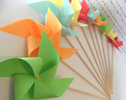 Decorative Items With Paper Paper Pinwheels Etsy