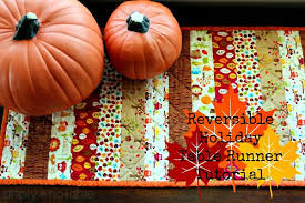 Reversible Holiday Table Runner Tutorial - Simply Notable & This quilted table runner is reversible so you can use it for several  months a year Adamdwight.com