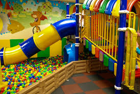 basement ideas for kids. Ideas. Lovable Kids Basement Playground With Cartoon Wall Paper Combined Industrial Slide Also Massive Colorful Ideas For