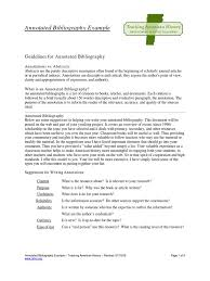 Annotated Bib Example Bibliography Annotation