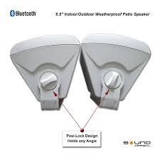outdoor bluetooth patio speakers. item number: 100-2206 outdoor bluetooth patio speakers