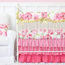 image of rose pink and gold nursery bedding