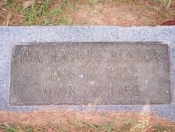 Ida Haynes Benson (1882-1958) - Find A Grave Memorial