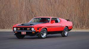 1971 Ford Mustang Boss 351 Fastback 1 Print Image 1971 Ford Mustang Ford Mustang Boss Ford Mustang