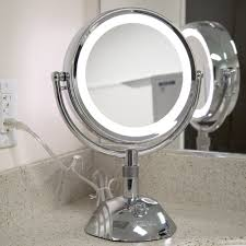 mirrors bathroom vanity table with lighted magnifying mirror