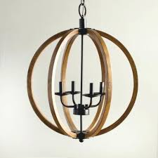 round wood chandelier stylish wooden orb light fixture rustic regarding designs 14