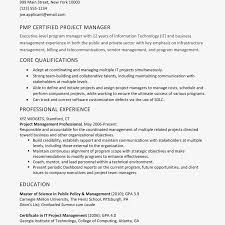 Summary Resumes Project Manageresume Example Sample Objective Statements For