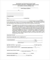 Letter Of Intent For Lease Template | Tomyumtumweb.com
