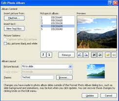 powerpoint photo albums photo albums in powerpoint 2007 technology bites