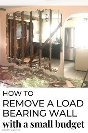 how to remove a load bearing wall diy