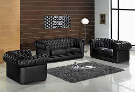 Modern Black Living Room Furniture Exotic Design Black Leather Sofa Set Dm Ceo Office Pinterest