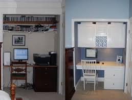 Office : 3 Ideas Office In A Closet Design Office Closet Organizer ...