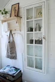 Alte Fenster Dekoration Schrank Schmall Vintage Wandverkleidung Holz