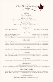 sample wedding program wording sample of wedding programme famous more ceremony programs wording