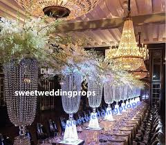 tall and large crystal table top chandelier centerpieces for weddings crystal centerpieces for wedding table whole decoration for birthday decoration