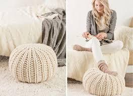 Knitting A Pouf