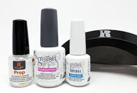 diy uv gel manicure tool kit manigeek s red carpet manicure prep gelish foundation and top it off and red carpet manicure