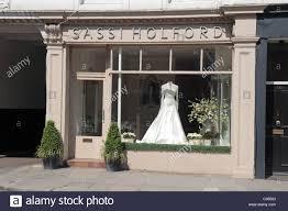 The Sassi Holford Wedding Shop On Fulham Road London Uk Stock