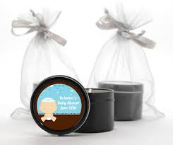 jewish baby boy baby shower black candle tin favors to enlarge