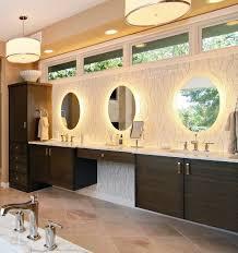 gorgeous bathroom lighting. bathrooms:ultra modern bathroom with long floating vanity cabinet and wall mirror lightings gorgeous lighting d