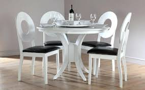 round dining table set. Round White Dining Table Set For 4 B
