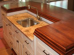Wooden Kitchen Countertops Kitchen Thick Wood Island Countertop Pictures Decorations