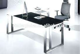 glass top office desk. Glass Top Office Desk White