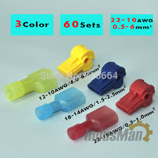 low voltage electrical wire connectors lovely 120pcs 60pairs scotch lock quick splice wire connectors terminals of
