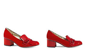 gucci shoes. gucci marmont mid heel loafers - bloomingdale\u0027s_2 shoes