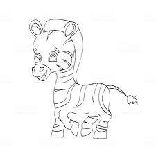 ベクトル ゼブラはマンガ キャラクターです児童図書のためのかわいい