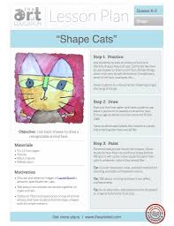 Elementary Art Lesson Plans Shape Cats Free Lesson Plan Download The Art Of Education