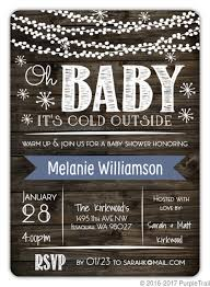 Baby Shower Invitation Cards Rustic Baby Its Cold Outside Baby Shower Invitation Card